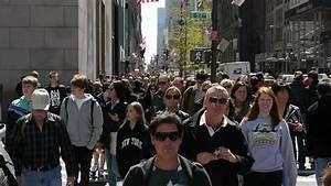 NEW YORK - CIRCA July, 2012: Crowd Of People Walking ...
