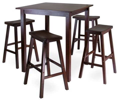 winsome wood parkland 5 square high pub table set w