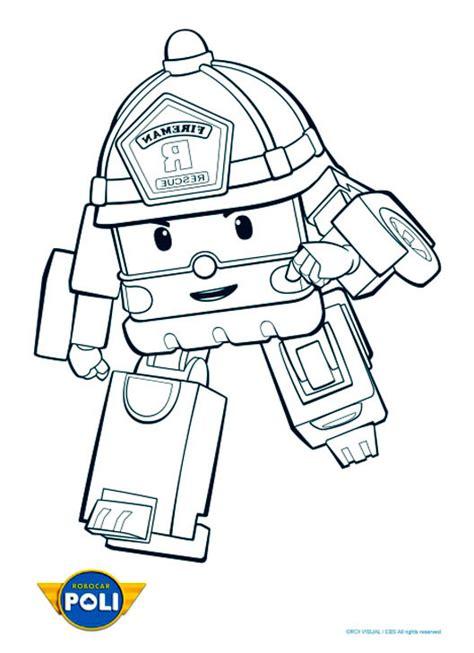 dessins de coloriage robocar poli roy  imprimer