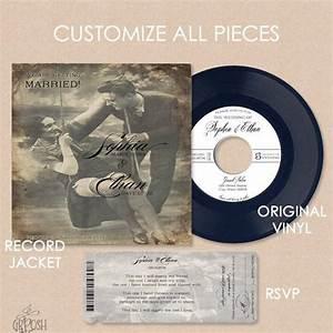 custom 7in vinyl record wedding invitation 45 rpm With 7 vinyl wedding invitations
