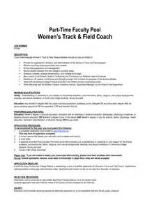 track and field coach resume exle youth minister resume