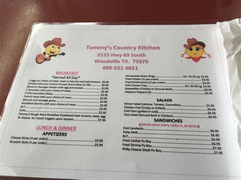 country kitchen menu menu side one yelp 2844