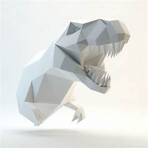 3d Papercraft Model  You Can Make Your Own Trex Head For