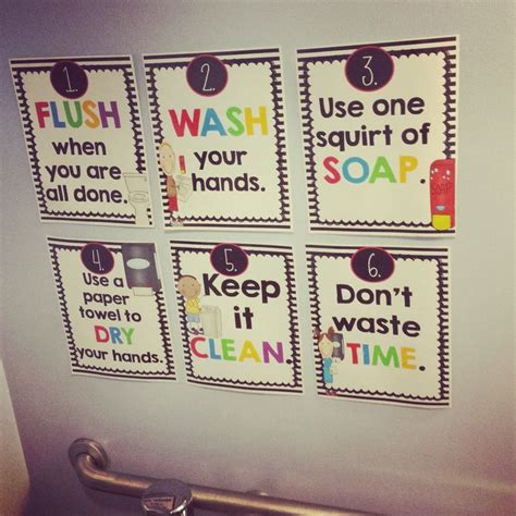 bathroom pass ideas for kindergarten bathroom reminder posters remember this classroom and