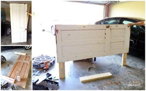 how to mount a door as a headboard diy vintage door headboard dawn nicole designs 174