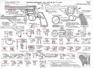 Webley Revolver Parts Diagram  Reference Only  Not For