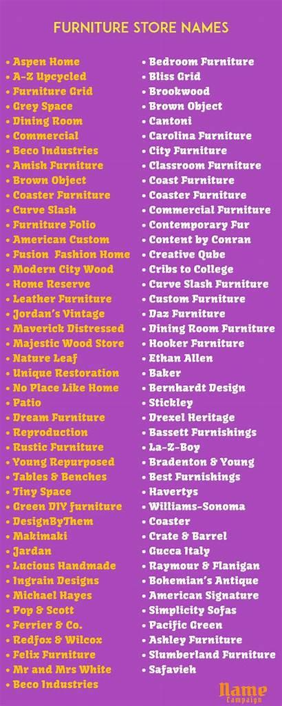 Names Furniture Attractive