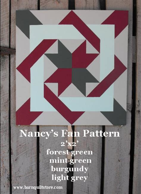 items similar  painted wood barn quilt nancys fan pattern  etsy