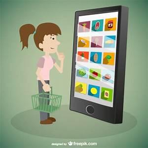Kunst Online Shop : frau online shopping vektor kunst download der kostenlosen vektor ~ Orissabook.com Haus und Dekorationen