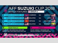Piala AFF Suzuki 2018 Malaysia jadual keputusan dan