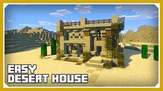 how to build a house minecraft how to build a desert house tutorial easy survival minecraft house