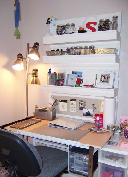 Small Space Organization: Craft Desk   2paws Designs
