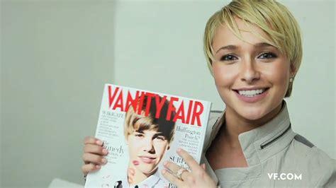 Vanity Fair Justin Bieber by Hayden Panettiere Congratulates Justin Bieber On His