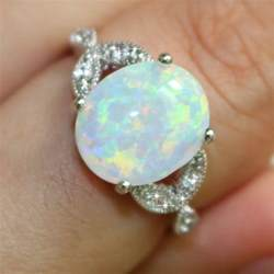 australian opal engagement rings sterling silver australian opal ring wedding engagement propose size 7 10