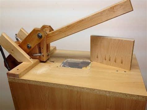 homemade foreman style pocket hole machine adjusting