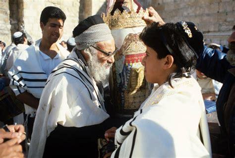 Israel Jerusalem Sephardic Rabbi With Boy And The Torah At