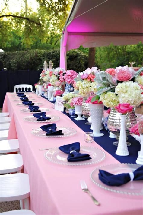 navy and pink wedding decor weddingdecor