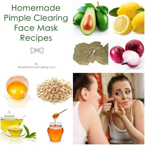 homemade pimple clearing face mask recipes