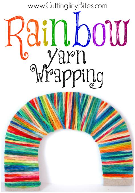 rainbow yarn wrapping what can we do with paper and glue 854 | RainbowYarnWrapping1