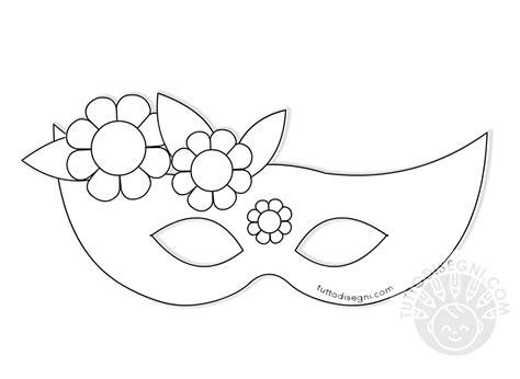mascherina  carnevale  fiori da colorare