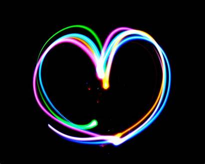Heart Hearts Neon Backgrounds Wallpapers Rainbow Background