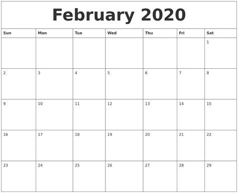 printable feb calendar february monthly printable qualads