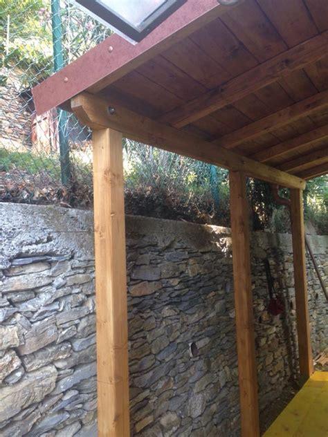 realizzazione tettoia in legno tettoia in legno realizzata per cliente privato a chiavari