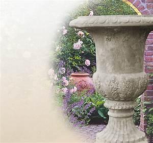 Blumentöpfe Aus Stein : stilvolle steinamphore sandsteint pfe garten ~ Lizthompson.info Haus und Dekorationen