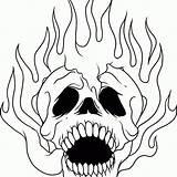 Skull Coloring Pages Sugar Skeleton Flames Skulls Printable Drawing Pdf Adults Flaming Graffiti Advanced Evil Animal Pitbull Clipartmag Sheet Getcolorings sketch template