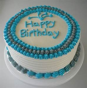 Simple Male Birthday Cake - CakeCentral com