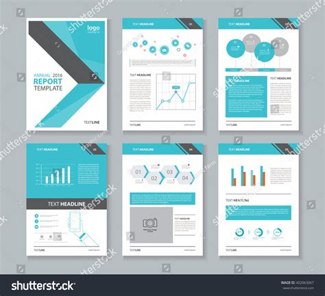 report template design page layout company profile annual report stock vector 402063067