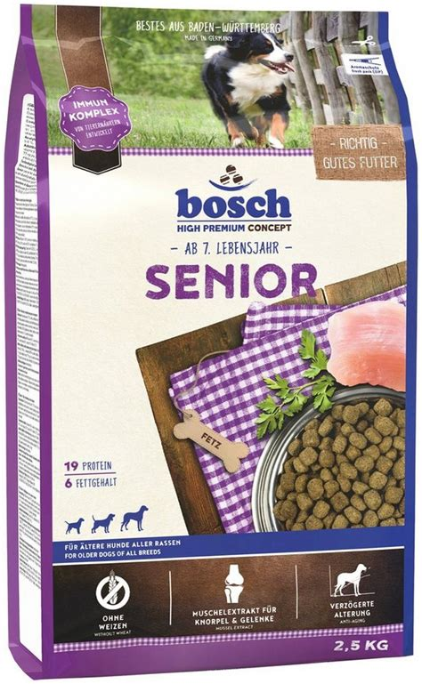 bosch petfood hundetrockenfutter senior  kg otto