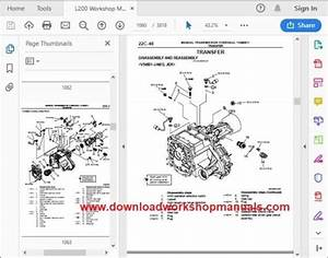 Mitsubishi L200 Workshop Manual Download