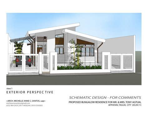 Interior Design Alluring Modern Bungalow House Exterior