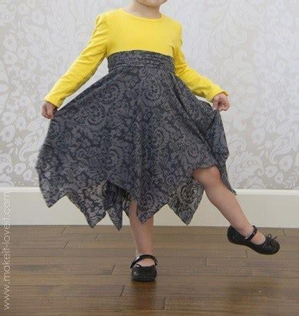 tutorial double layer handkerchief hem  shirt dress sewing
