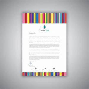 Free Template For Letterhead Business Letterhead With Stripes Design Download Free