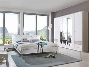 Günstige Schlafzimmer Komplett : batida i komplett schlafzimmer 140 x 200 cm weiss eiche ~ Watch28wear.com Haus und Dekorationen