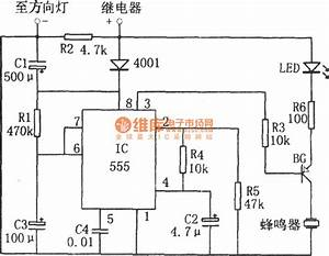 light off reminder circuit composed of 555 audio circuit With delay circuit with quotwatchdogquot composed of 555 555circuit circuit