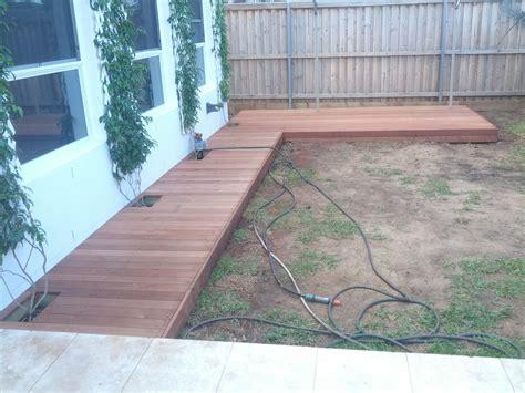 diy build low deck boardwalk