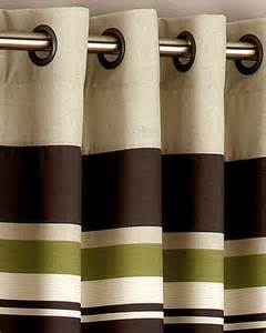 Yale Green Brown Striped Boudoir Cushion Cushions Uk