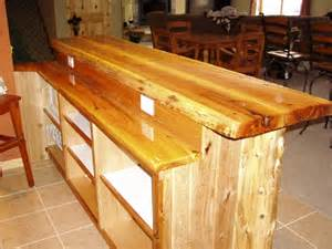 Plans To Build A Kitchen Island 2 Level White Cedar Bar Log Corners T G Black Ash Wrap Around Adustable Shelving