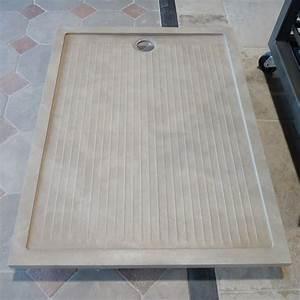 Receveur Sur Mesure : receveur de douche en pierre naturelle rectangulaire ~ Premium-room.com Idées de Décoration