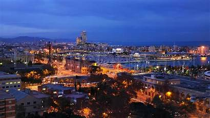 Barcelona Wallpapers Night Spain Facial Courses Background
