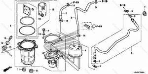 Honda Atv 2012 Oem Parts Diagram For Fuel Pump