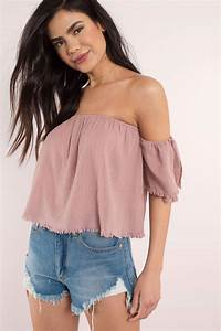 White Going Out Top - Off Shoulder Top