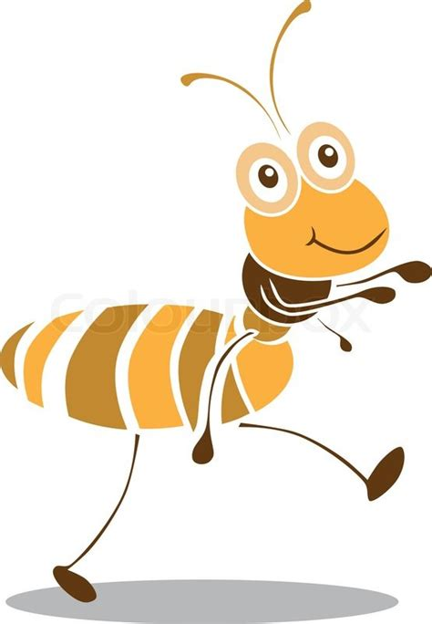 Very cute ant cartoon vector.