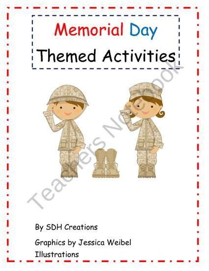 memorial day themed activities from celebrate grade