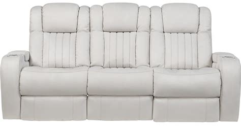 Contemporary Leather Reclining Sofa by 1 577 00 Servillo White Leather Power Reclining Sofa