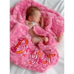 Flamingo Dot Sorbet Pink Minky Swirl Baby Girl Blanket ...