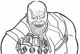 Coloring Thanos Comments Library sketch template